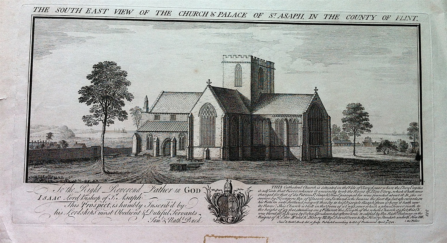 St Asaph Church And Palace Wales By Samuel Amp Nathaniel Buck